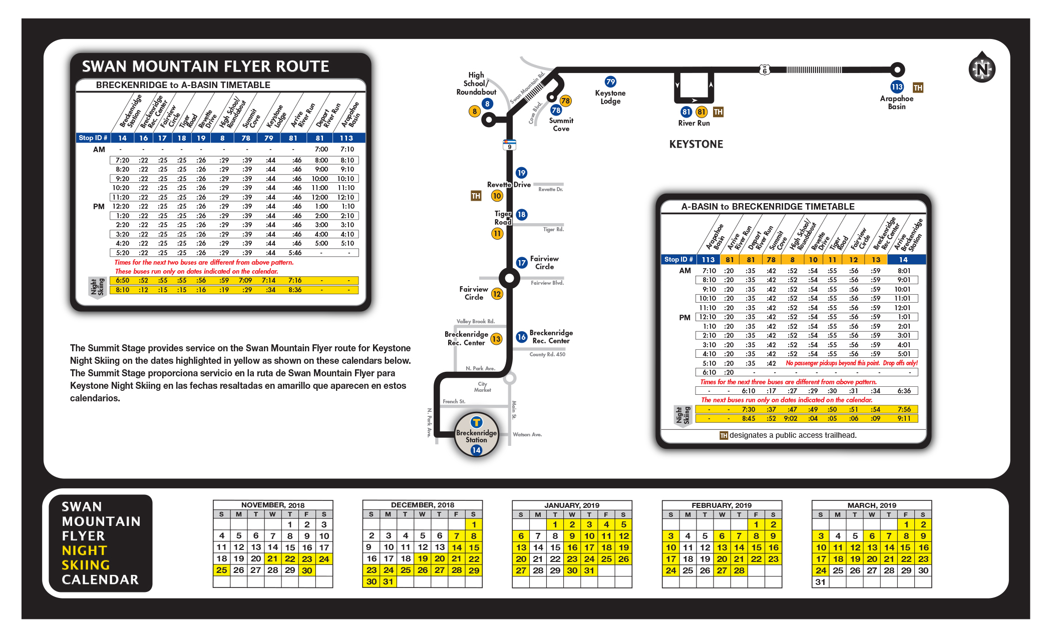 Winter Bus Schedule | Summit County, CO - Official Website