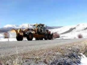 Picture of 185 HP Road Grader Working on Heeney Road in 2005