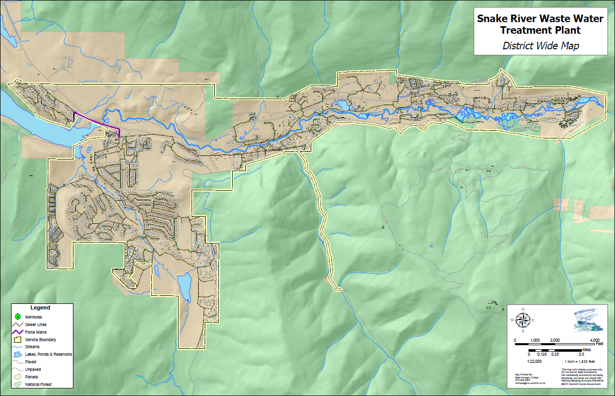 Snake River Wastewater Treatment Plant Service Map