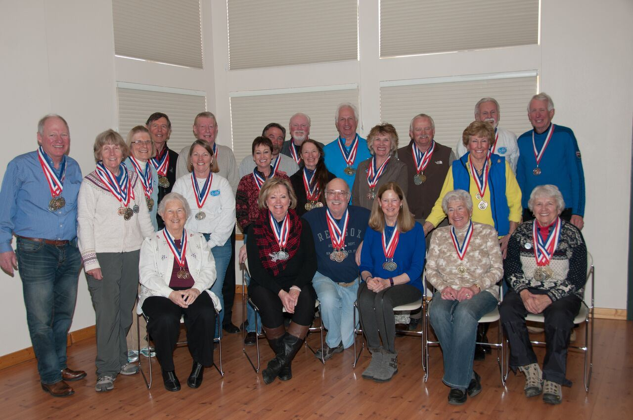2016 Large Group Photo Ice Event Medal Winners from the 50+ Winter Games