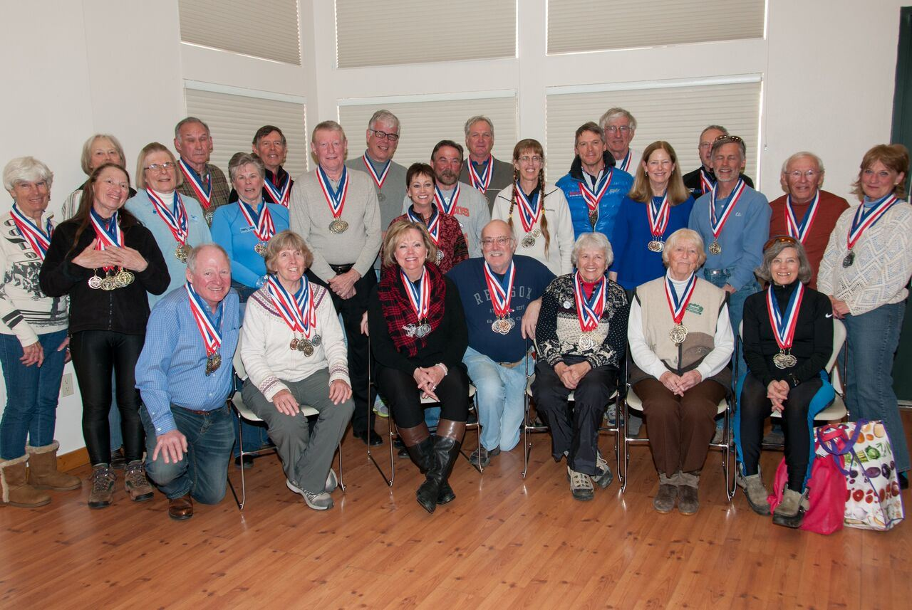 2016  Large Group Photo of Nordic Event Medal Winners from the 50+ Winter Games