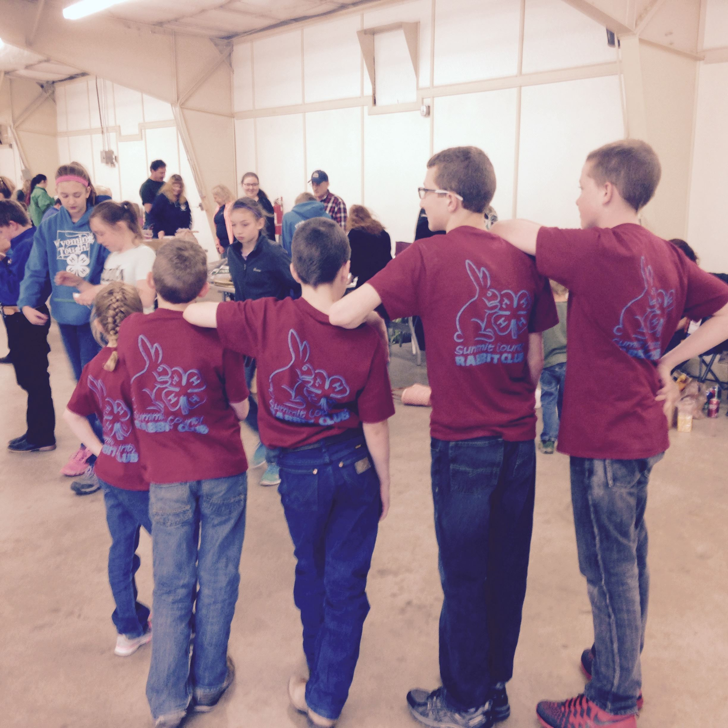 4-H Rabbit club participants