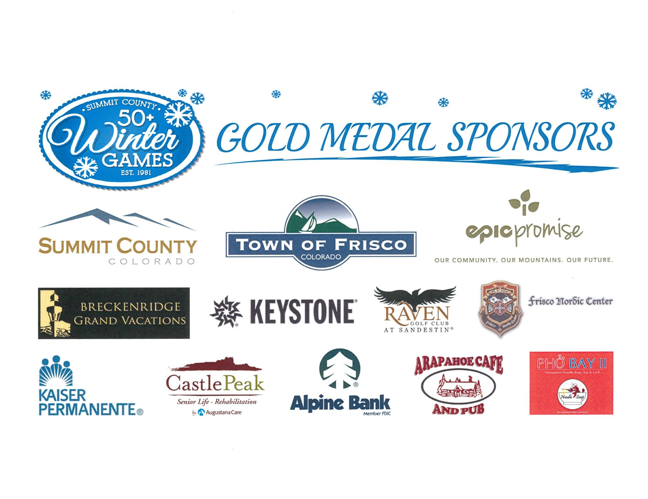 Winter Games Gold Level Sponsors