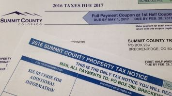 Photo of a property tax notice.