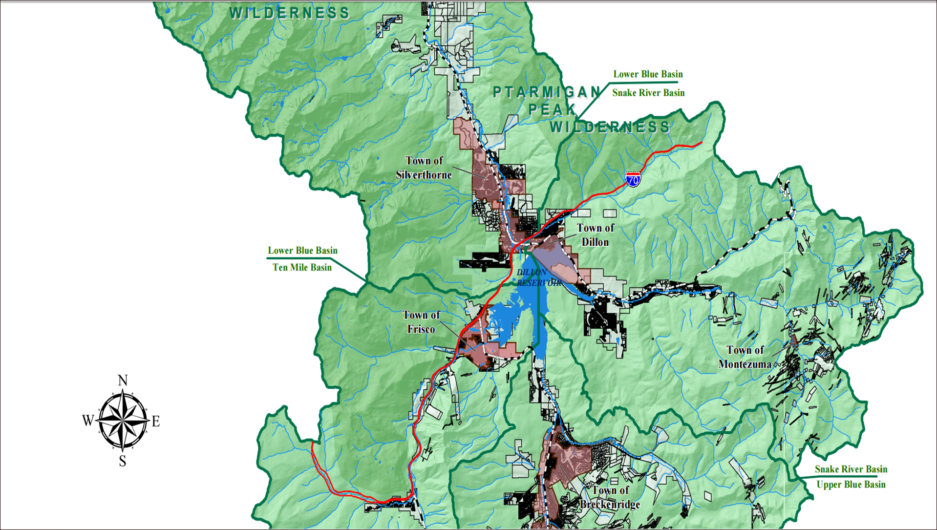 Map of central Summit County