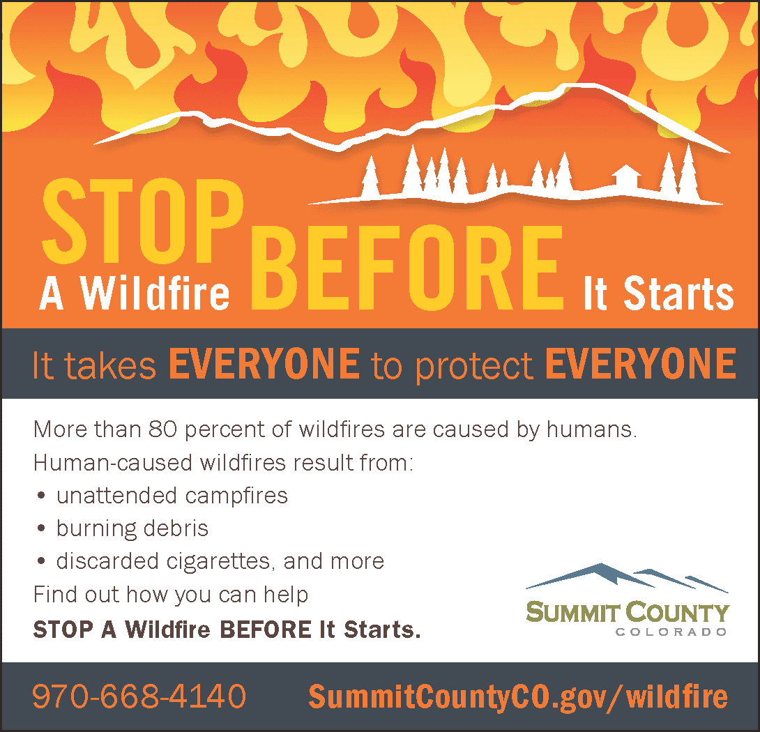 More than 80% of wildfires are caused by humans.