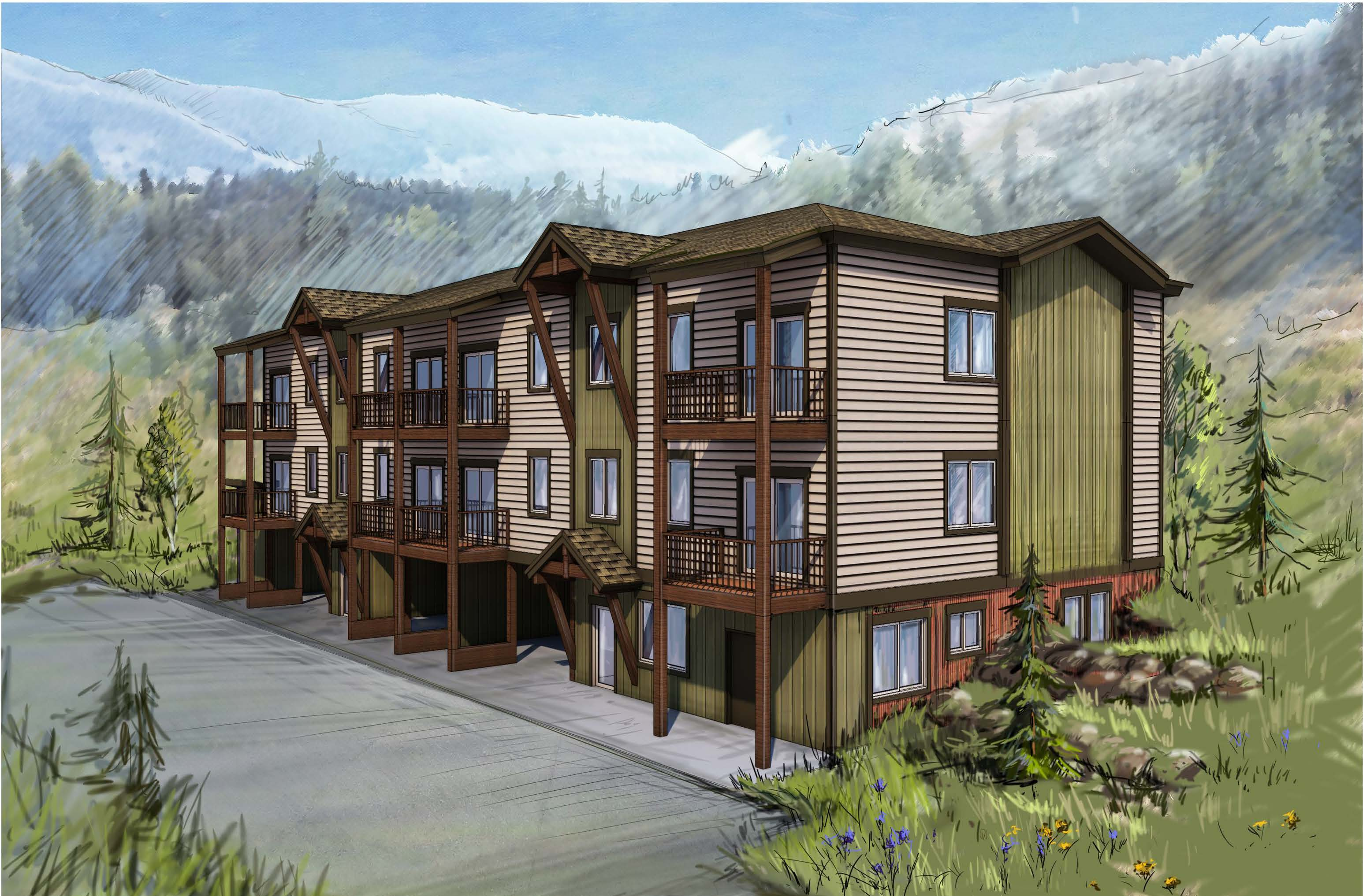 West Hills Phase 2 Condo Building Rendering