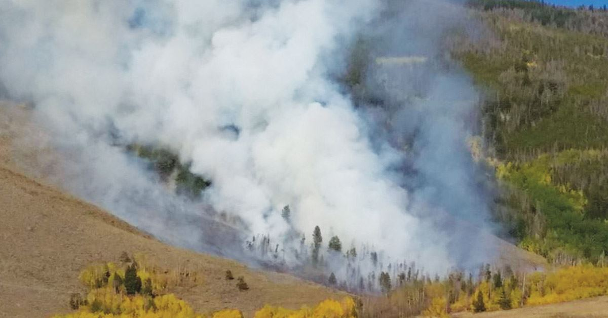 The Tenderfoot 2 Fire ignited in September 2018.