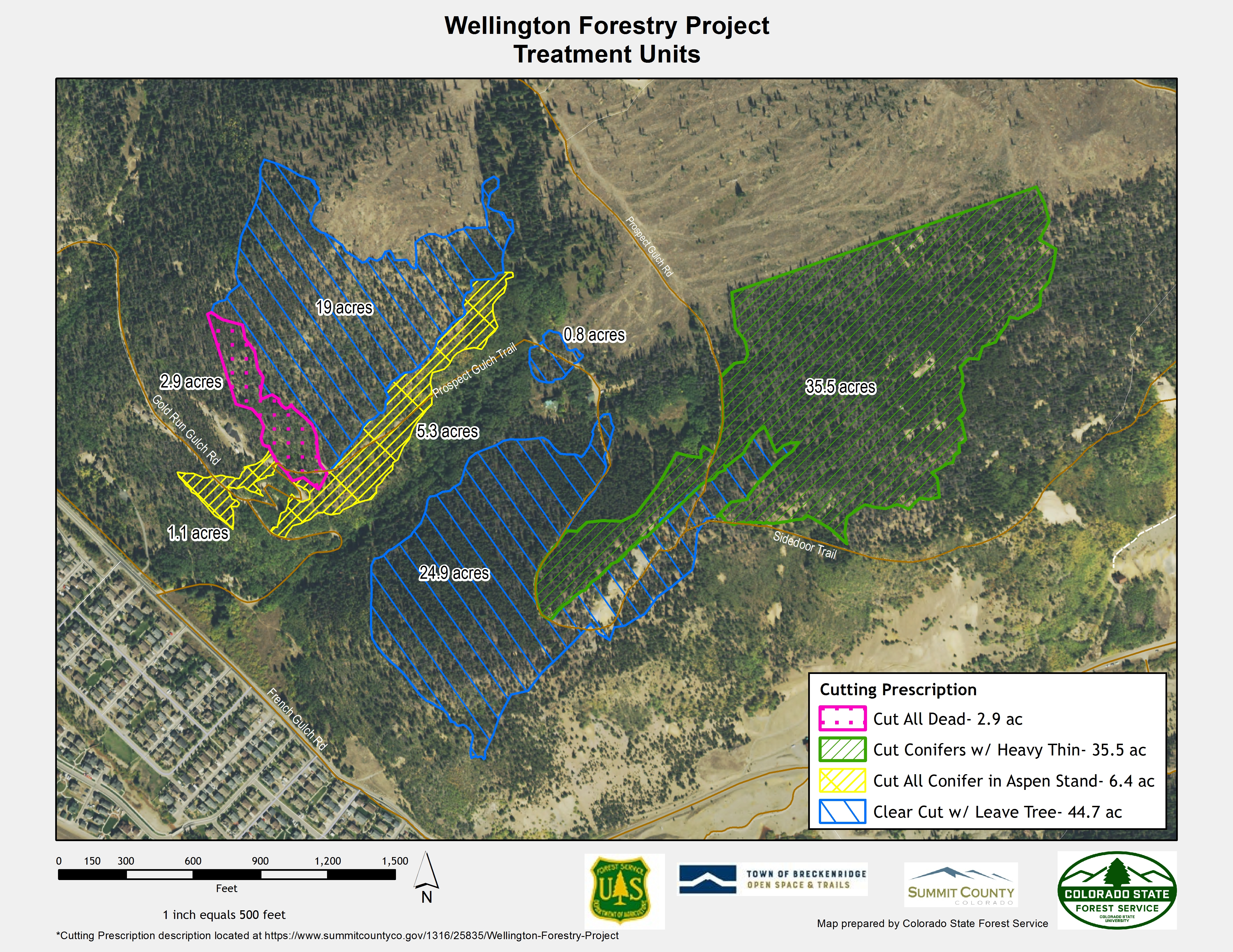 Map showing ownership of land included in Wellington Forestry Project