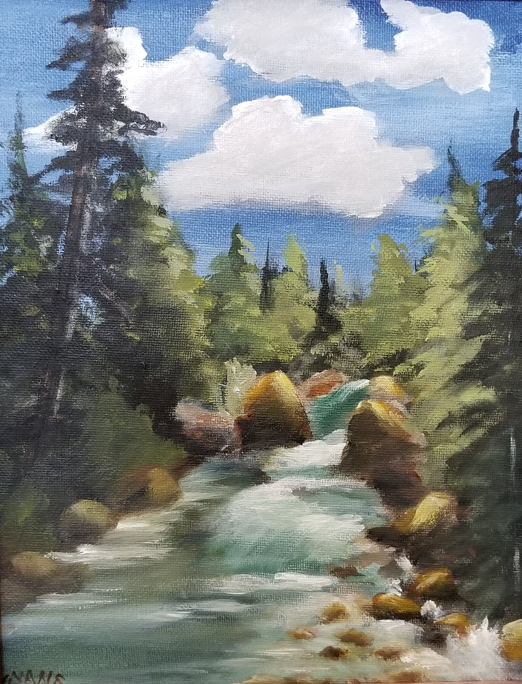 Acrylic/Oil Painting River