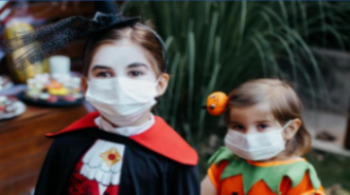 Halloween Children with Masks