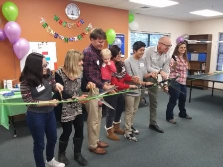 Ribbon cutting all