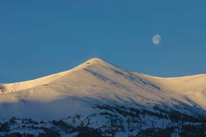 Moon Over the Tenmile Range