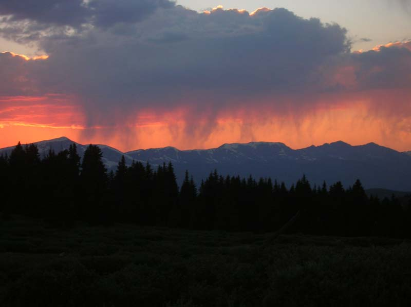Sunset from Boreas Pass