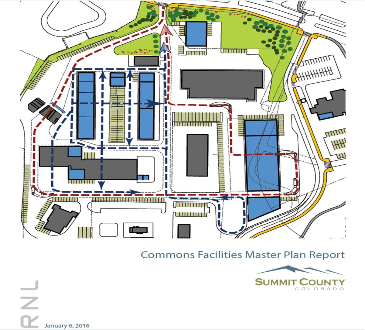 Map of the industrial portion of the County Commons campus.